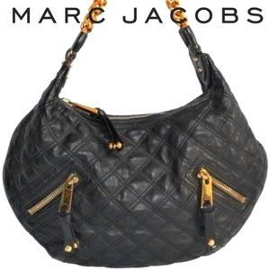 Marc Jacobs Quilted Black/Gold Leather Bag